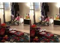 要幫妳沖水囉~2歲妹對貓自言自語 原來在幫牠「洗頭」(圖/網友Chia Nong Lin授權提供)