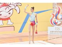 106年全國大專校院運動會韻律體操錦標賽。楊千玫(圖/記者李毓康攝)