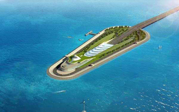 港珠澳大桥海底隧道入口示意图.
