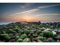 ▲台南黃金海岸綠藻景觀。(圖/攝影師洪年宏 授權提供)