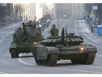 俄羅斯紀念72周年「勝利日」閱兵彩排。(圖/路透社)