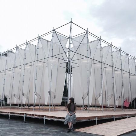 台北市立美術館當期展覽「供霧所」。(圖/網友ig oops_li 提供,請勿任意翻攝,以免侵權,以下同。)