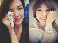 ▲楊丞琳、許瑋甯曬香奈兒Mademoiselle J12腕錶(圖/翻攝自臉書)