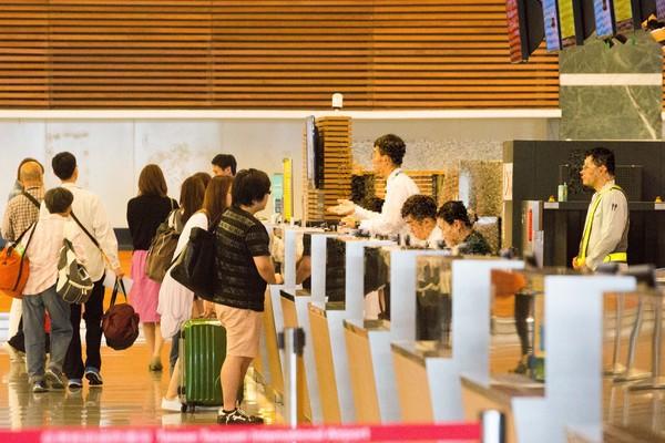 ▲桃園機場,登機報到手續,旅客,出國旅遊,航空公司(圖/記者季相儒攝)