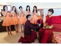 ▲安以軒夏威夷中式迎娶儀式。(圖/安以軒提供)