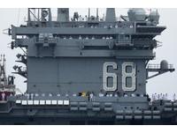 ▲▼尼米茲號航空母艦打擊群離開聖地牙哥的母港(USS Nimitz CVN-68)。(圖/路透社)