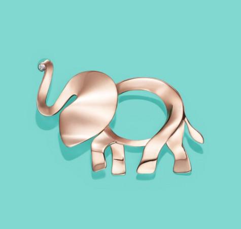 ▲TIFFANY大象珠寶。(圖/翻攝TFFANY IG)