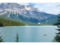 ▲加拿大翡翠湖。(圖/記者于佳云攝)