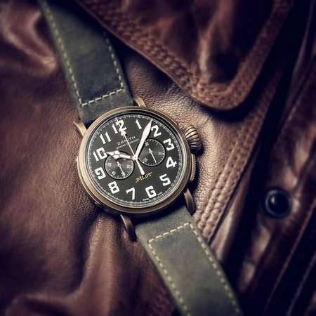 真力時2017年巴塞爾錶展新品Pilot Type 20 Extra Special 青銅計時碼錶,建議售價NT$ 248,300
