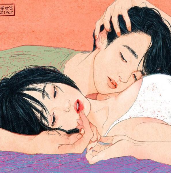 亚洲情色人妻淑女_羞~人妻笔下的微情色漫画 裸体交缠也好唯美