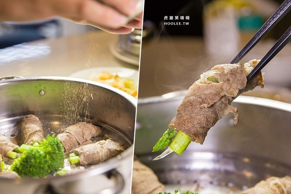 鯊嗑海鮮鍋物。(圖/虎麗笑嗨嗨)