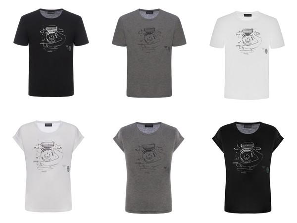 ▲Emporio Armani推出胡歌聯名T恤(圖/品牌提供)