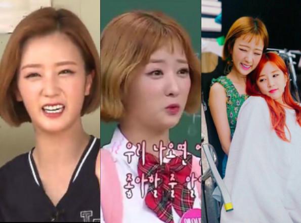 ▲▼ Apink普美剪「耳下3cm短髮」 瀏海超神奇⋯粉絲笑翻了。(圖/翻攝自MBC、JTBC、IG、推特)