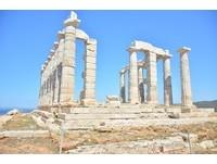 ▲希臘雅典舒尼恩岬的波塞頓海神廟(Temple of Poseidon)。(圖/記者李姿儀攝)