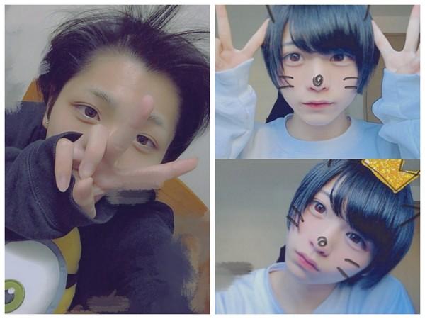 日本最可爱高中生竟然是男生(图/翻摄自ginsyamu ig)