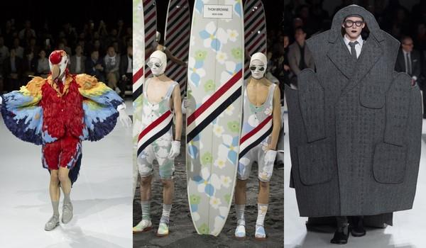 ▲Thom Browne 2018春夏讓男人穿婚紗(圖/翻攝自www.vogue.com)