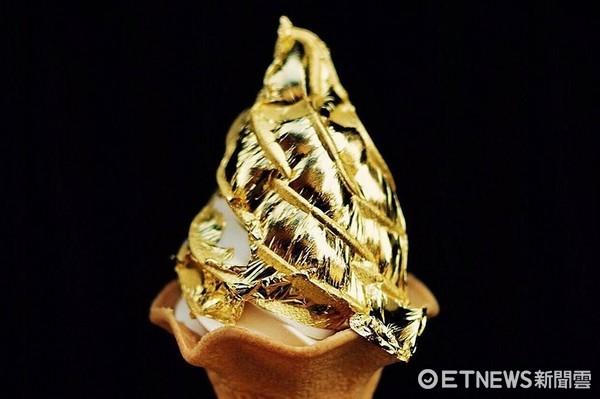 ▲▼皇后淇淋 Queen Cream的黃金箔冰淇淋。(圖/皇后淇淋 Queen Cream提供)