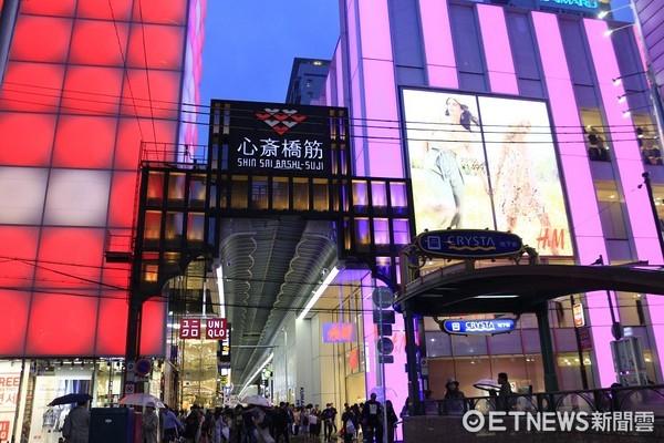 ▲▼大阪,心齋橋,日本街道示意圖,赴日遊客示意圖。(圖/記者蔡玟君攝)