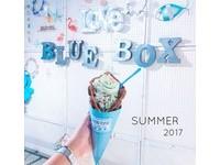 藍箱處 Blue Box - 分子冰淇淋雞蛋仔(圖/網友chuan_0429提供,請勿隨意翻拍,以免侵權。)