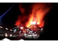 ▲▼英國倫敦最著名跳蚤市場肯頓市集在周一凌晨發生火災。(圖/路透社)