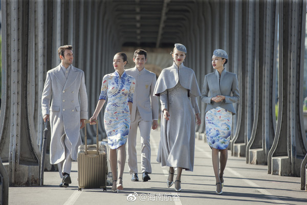 台湾要观摩!海南航空新制服 让空姐凹凸有致又时尚
