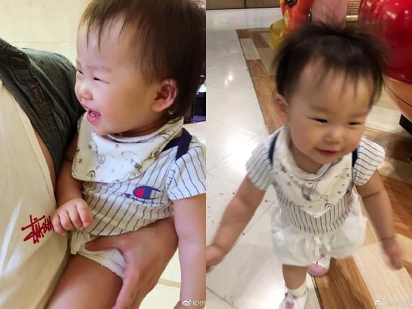 ▲▼伊能靜1歲女兒小米粒會走路了。(圖/翻攝伊能靜微博)