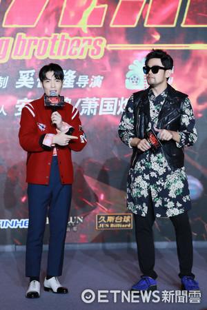 ▲▼《靠譜兄弟》上海記者會周杰倫、蕭敬騰。(圖/DMG印紀傳媒提供)