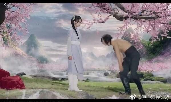 宋茜、黃曉明《上古情歌》。(圖/翻攝自「真心愛你一起」微博)