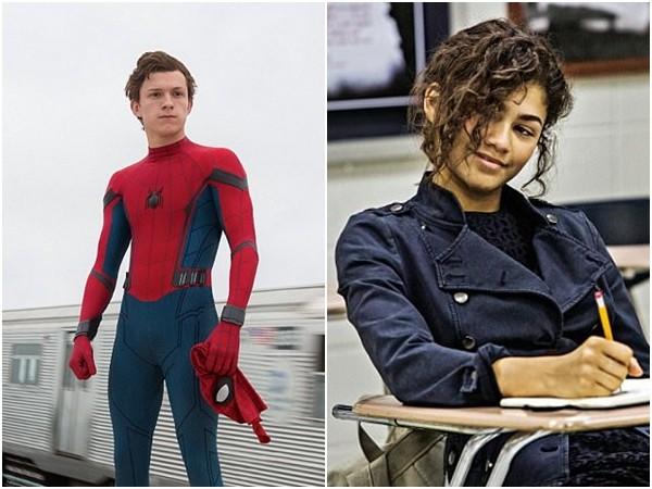 《蜘蛛人:返校日》湯姆霍蘭德(Tom Holland)和辛蒂亞(Zendaya)。(圖/《蜘蛛人:返校日》劇照)