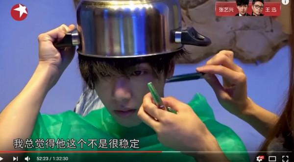 ▲華晨宇的新造型原來是林志玲剪的。(圖/翻攝自華晨宇、林志玲微博、YouTube/SMG上海電視台官方頻道)
