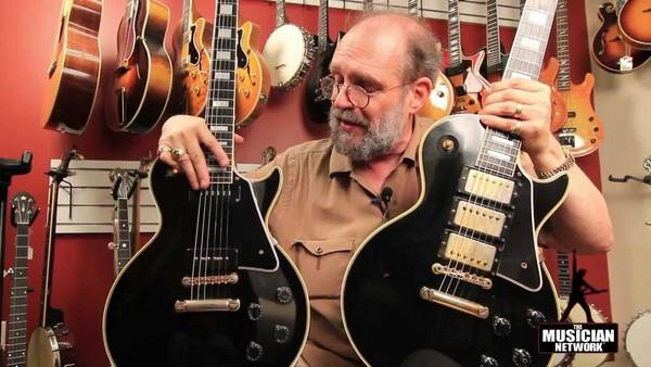 電吉他銷售量正直線下滑,圖為納許維爾的老牌吉他專賣店Gruhn Guitars老闆格魯恩(George Gruhn)。(翻攝網路)