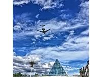▲台版玻璃金字塔就位在花博美術園區內。(圖/網友提供,請勿隨意翻拍,以免侵權。)