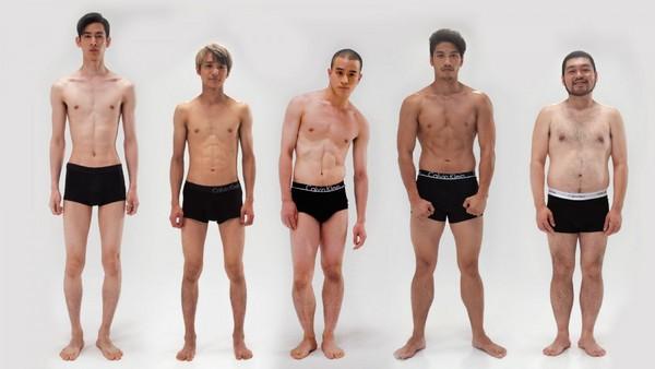 ▲5種男人身形調查(圖/翻攝自www.glam.jp)