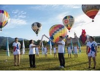 ▲世大運聖火在台東以熱氣球升空。(圖/世大運籌委會提供)