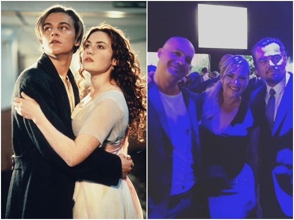 《鐵達尼號》3主角合體!傑克、蘿絲勾20年回憶。(圖/《鐵達尼號》劇照、翻攝自比利贊恩IG)