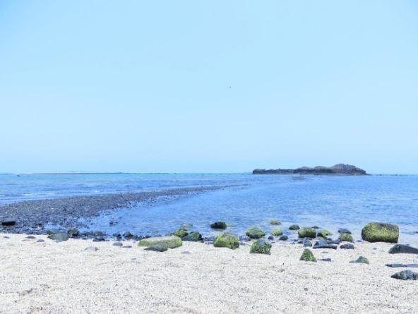 澎湖海景,摩西分道。(圖/IG@tata.1209提供,請勿任意翻攝以免侵權)