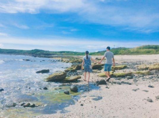 澎湖海景,情人沙灘。(圖/IG@leerainiee提供,請勿任意翻攝以免侵權)