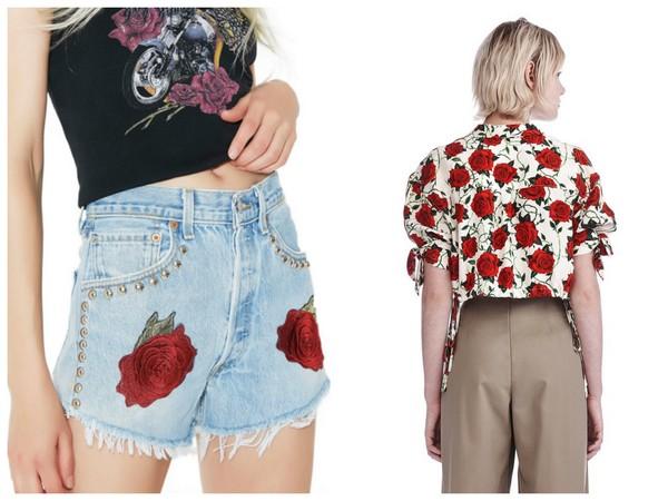 ▲少女時代Tiffany穿dollskill短褲與alexander wang襯衫上衣。(圖/翻攝自alexanderwang官網、dollskill官網)