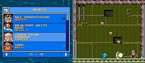 玩家可以在編輯器內建的列表中,下載其他玩家設計的關卡。(圖片來源:遊戲實機截圖)