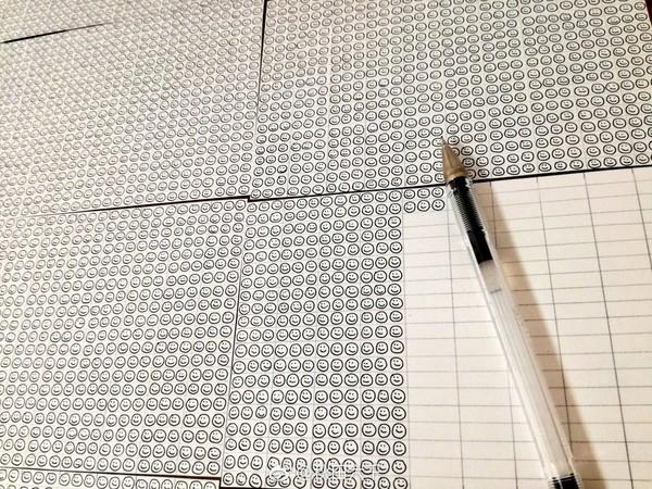 圓珠筆墨水可以畫幾個小笑臉(圖/翻攝自網路)