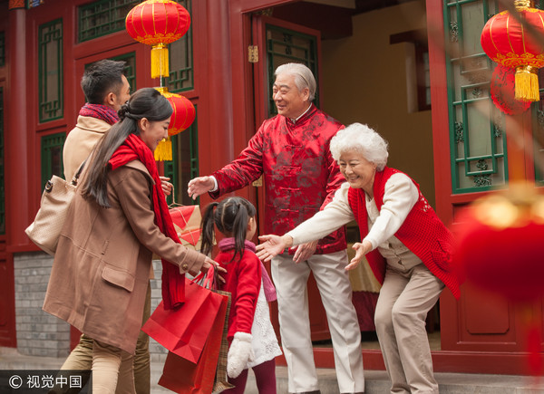 过年,团圆,拜访,亲戚,年夜饭,拜年,新年,庆祝,吃饭示意图.(图/cfp)