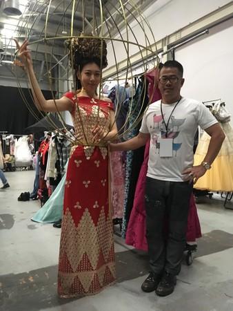 ▲林國基打造「鳥籠造型禮服」。(圖/艾迪昇傳播提供)