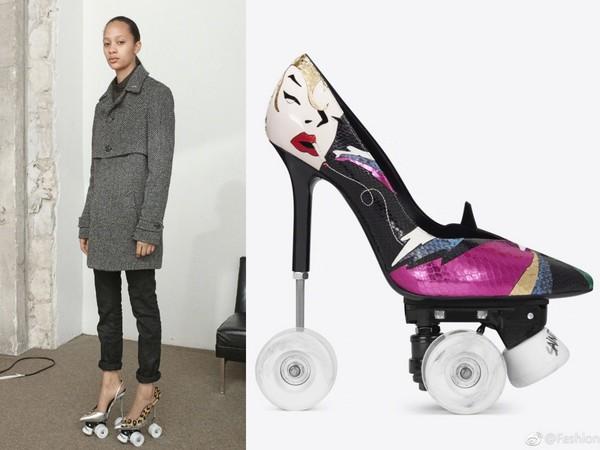 ▲Saint Laurent推「高跟溜冰鞋」(圖/翻攝自Fashion_BangZ 微博)