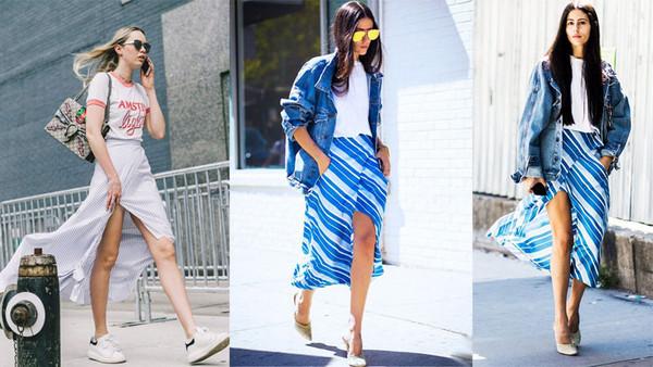 ▲夏天只要一件條紋裙,就能穿出顯高顯瘦的時尚風格             。(圖/bella儂儂提供)
