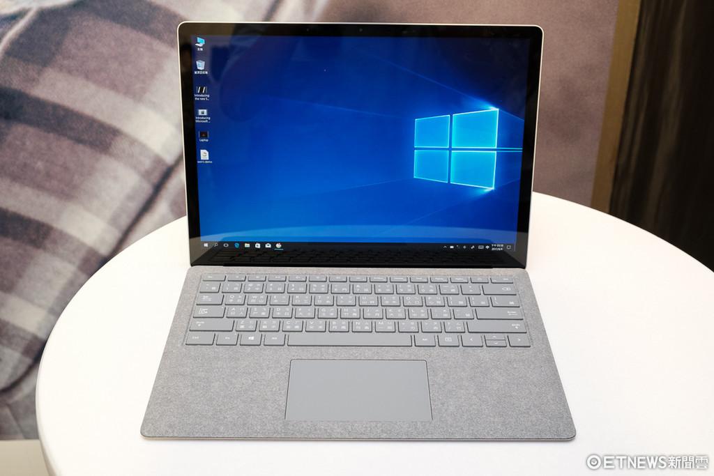 微軟Surface Laptop體驗。(圖/記者莊友直攝)