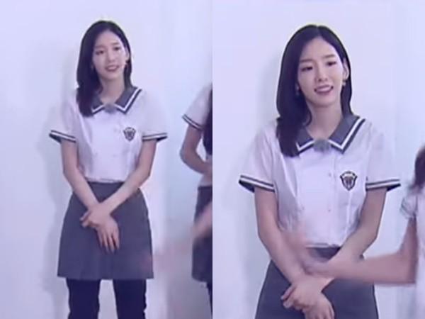 ▲▼ 少時出擊《RM》! 太妍穿校服「逆齡美貌」網友戀愛了。(圖/翻攝自YouTube SBS Running Man)