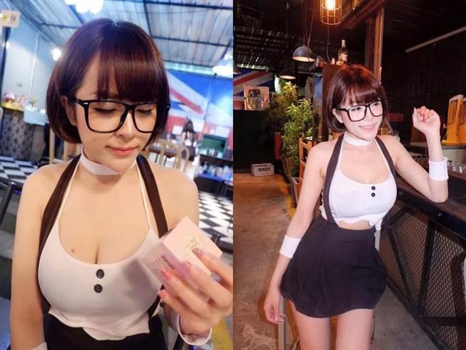 泰「巨乳女僕」直播賣酒被捕,進了警局…奶太大一夕成網紅(圖/翻攝自網路)