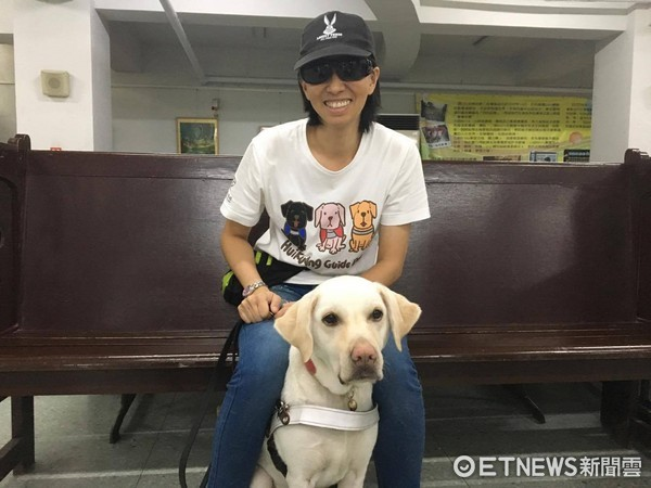 ▲導盲犬sunny。惠光導盲犬學校。視障者孫小姐(圖/記者嚴云岑攝)
