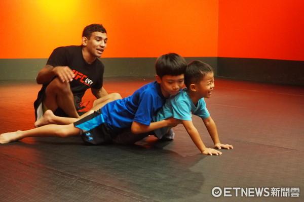 ▲兒童柔術防身體驗課 。(圖/UFC GYM提供)