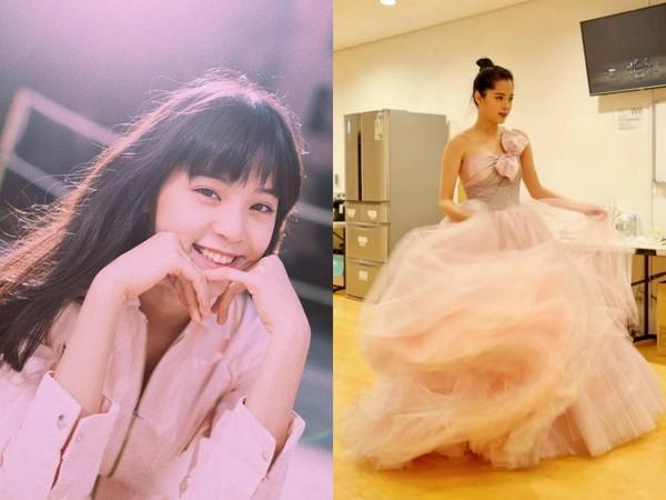 ▲歐陽娜娜穿台灣牌禮服。(圖/翻攝自歐陽娜娜臉書、品牌提供)